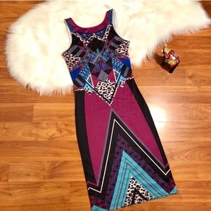 NWT Jealous Tomato Aztec midi dress